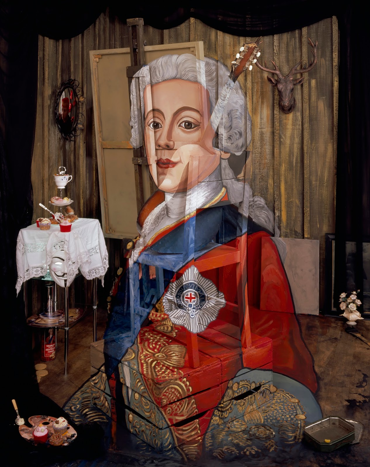 Calum Colvin,  Portrait of Charles Edward Stuart (after Liotard),  2016   http://www.calumcolvin.com/Jacobites_by_Name.html