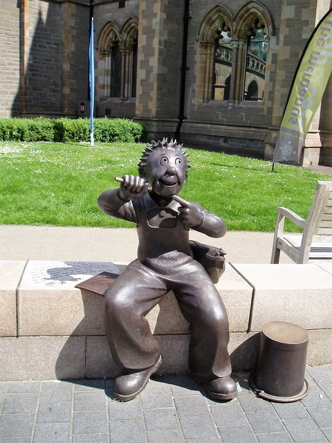 """Oor Wullie"" statue, outside the McManus Gallery  http://www.geograph.org.uk/photo/5084063"