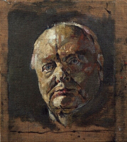 Graham Sutherland, Winston Churchill, 1954, Oil on Canvas, 345x311mm, National Portrait Gallery http://www.tate.org.uk/art/artworks/sutherland-lord-goodman-t01880