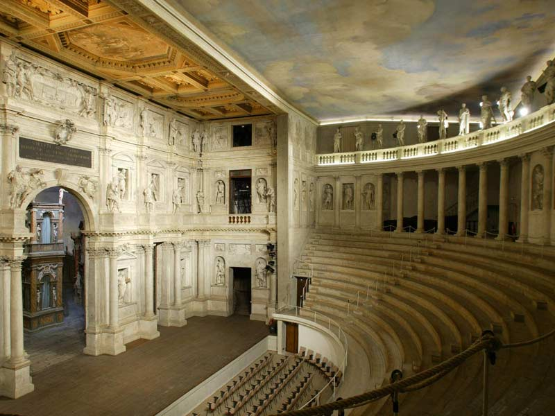 Andrea Palladio,  Teatro Olimpico,  1579-80  http://www.italia.it/en/travel-ideas/art-and-history/vicenzas-teatro-olimpico-olympic-theatre.html