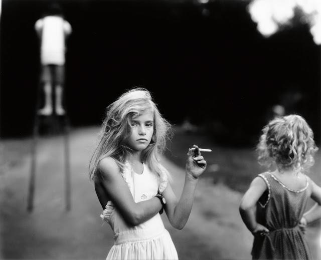 Sally Mann, Candy Cigarette , silver print, 1989.  http://www.swanngalleries.com/news/2015/09/on-sally-mann/