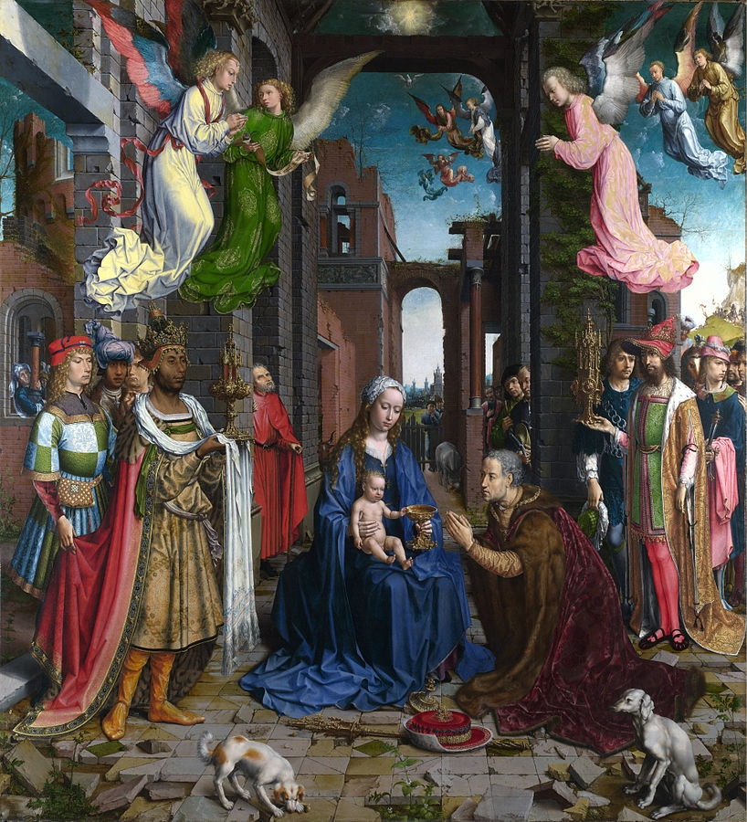 Jan Gossaert, The Adoration of the Kings, 1510-15