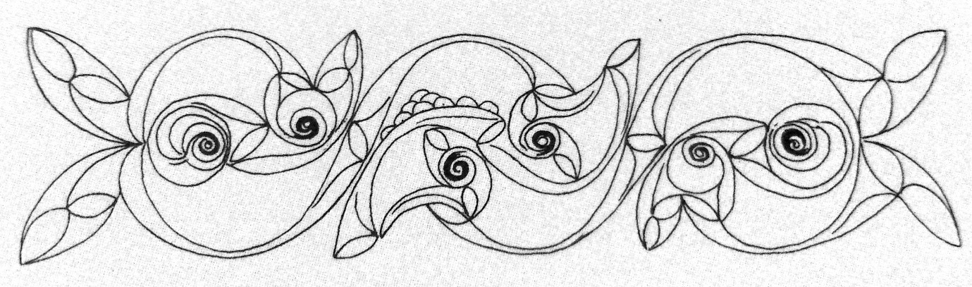 Schematic line drawing of the design on the  Broighter Torc . First century BCE. hammered and moulded gold. National Museum of Ireland, Dublin. Image Source: Kruta, 2015