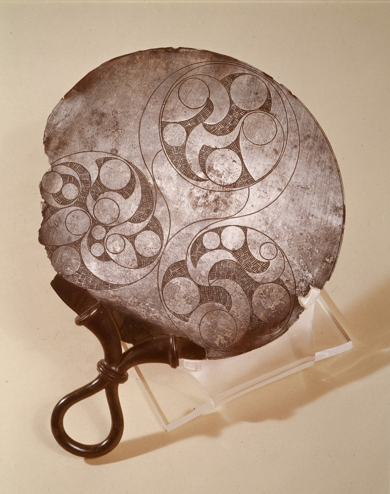 The 'Mayer' Mirror. Found in the south east of England. First century BCE. Engraved bronze. World Museum, Liverpool. Image Source: http://www.celticmirrors.org/#20
