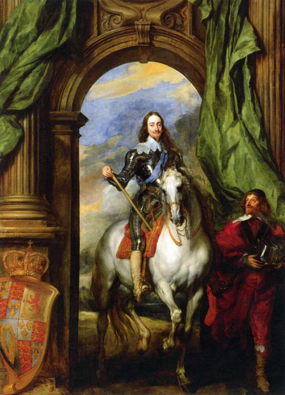 Anthony Van Dyck,  Charles I on Horseback with M. de St Antoine , 1633, oil on canvas, 368.4 x 269.9 cm, Windsor, The Royal Collection. Image courtesy of the University of St Andrews Image Database.