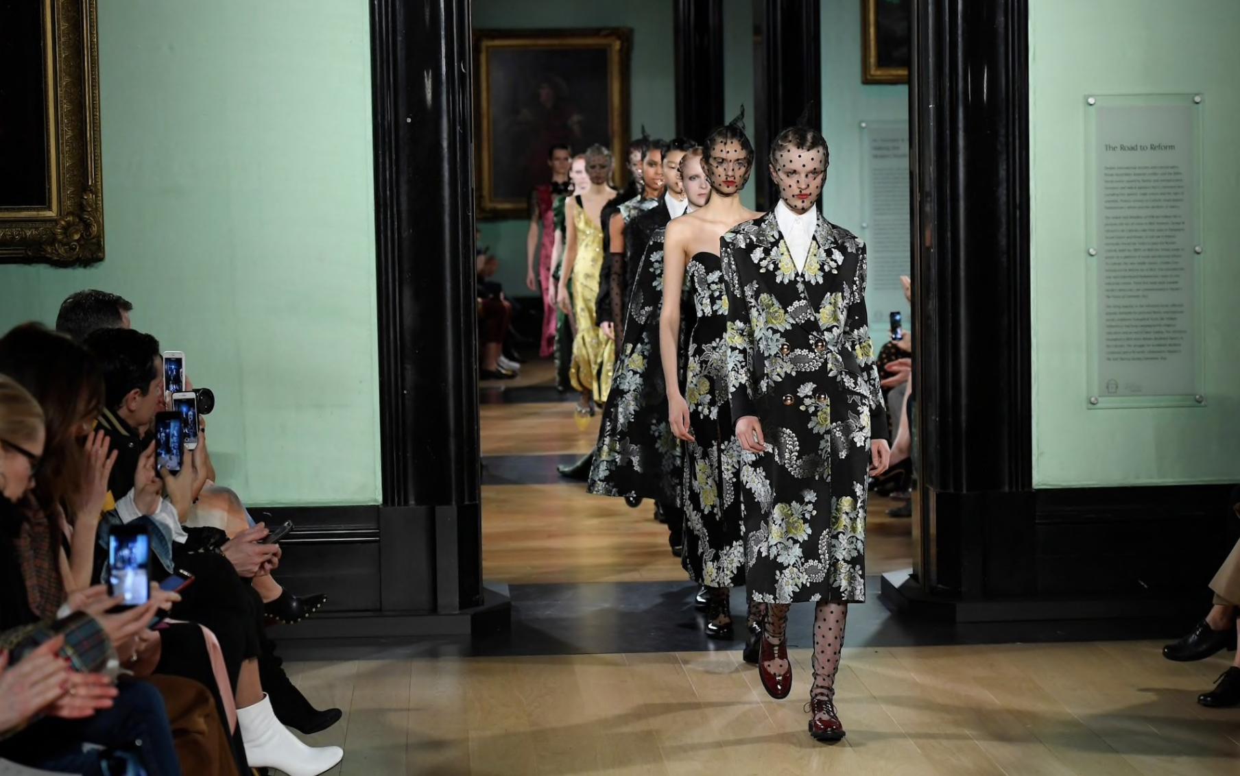 The London Fashion Week Erdem show at the National Portrait Gallery. CREDIT: WWD/REX/SHUTTERSTOCK