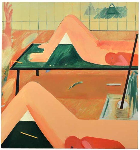 Gabriella Boyd,  Birthyard , 2015, Oil on canvas, 167.8 x 152.4 cm  http://www.liverpoolmuseums.org.uk/walker/johnmoores/jm2016/prizewinners/boyd.aspx