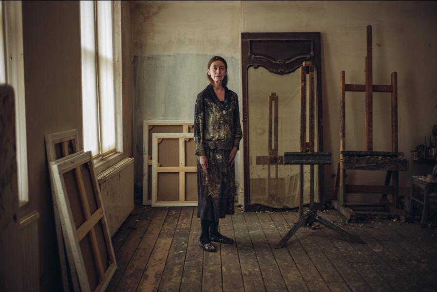Tom Jamieson,  Celia Paul in her studio SOURCE:  The New York Times