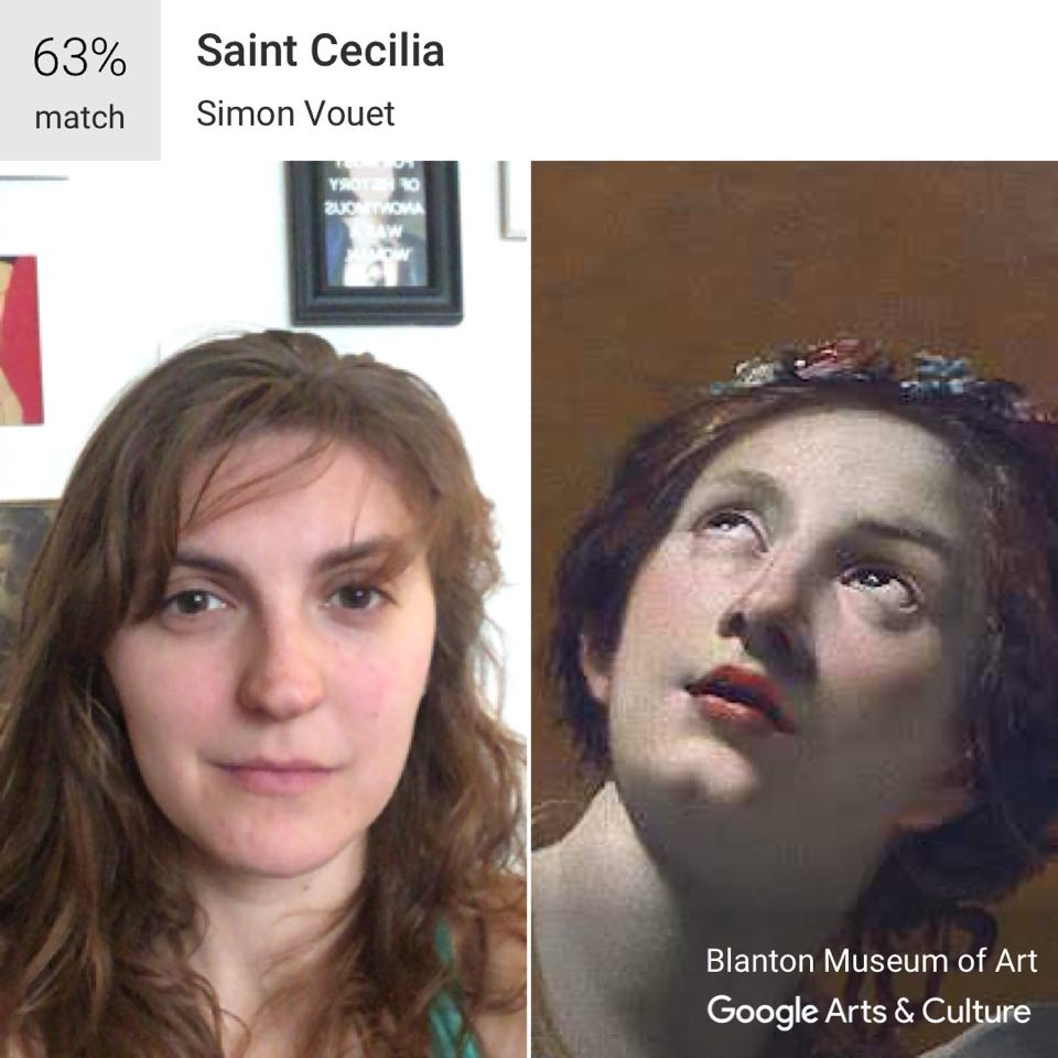 An example of Google Arts & Culture's face-match function in action. Screenshot taken 18th February 2018. Image Source: Robyn Thum-O'Brien