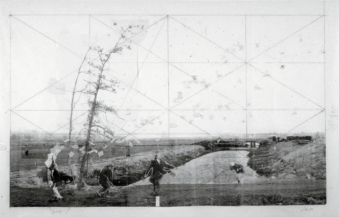 Jeff Hall,  Study for a Sudden Gust of Wind (After Hokusai),  1993, Photograph, 773mm x 1215mm, Tate, London http://www.tate.org.uk/art/artworks/wall-study-for-a-sudden-gust-of-wind-after-hokusai-t07235
