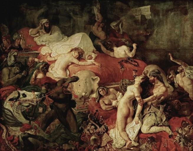 Eugene Delacroix,  Death of Sardanapalus , 1827, Oil on Canvas, 3.92m x 4.96m, Musée de Louvre, Paris http://www.eugene-delacroix.com/death-of-sardanapalus.jsp