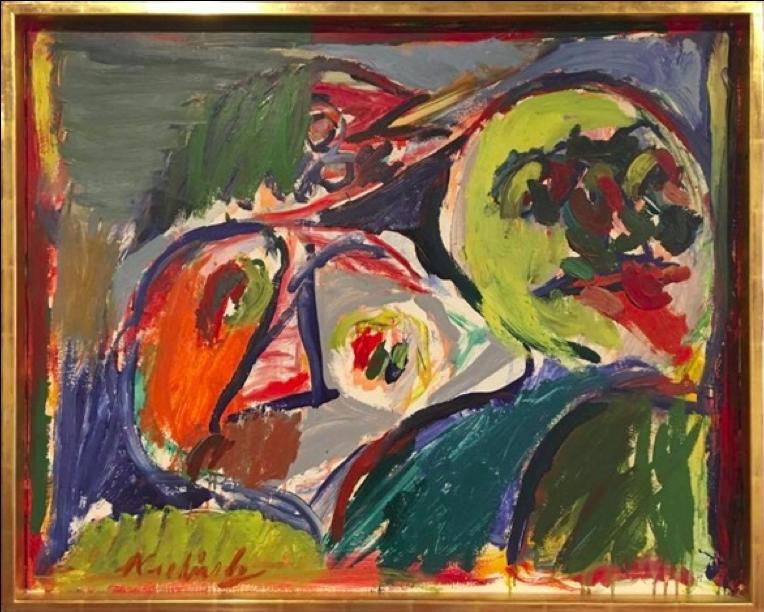 Pierre Alechinsky,  Mal de Terre,  1964, 65 x 81 cm, Galerie Birch, Copenhagen.  http://www.galeriebirch.com/artists/cobra/pierre-alechinsky/
