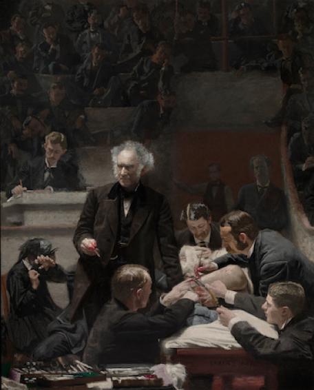 Thomas Eakins , The Gross Clinic , 1875, Oil on Canvas, Philadelphia Museum of Art  https://www.khanacademy.org/humanities/art-americas/us-art-19c/realism-us/a/eakins-the-gross-clinic