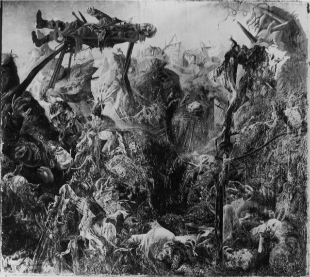 Otto Dix,  The Trench , 1920-3, Photograph (painting destroyed).  https://www.wired.com/2012/10/virtual-gallery-of-lost-art/