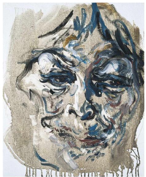 Maggi Hambling,  Henrietta, Oil on canvas, 1998, 53 x 43cm, (Private Collection)   http://www.maggihambling.com/work