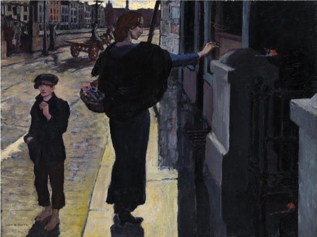 Jack B. Yeats,  Bachelor's Walk, In Memory,  1915, Oil on Canvas, 45.7 x 61 cm, National Gallery of Ireland on loan from a private collection. http://onlinecollection.nationalgallery.ie/search/bachelor%2520walk