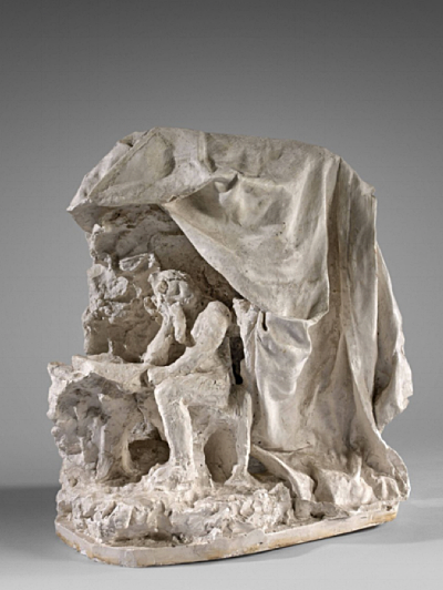 Camille Claudel,  Woman at her Toilette or Woman Reading a Letter , c. 1895-97, plaster, 39 x 41 x 29 cm  https://frieze.com/article/rediscovering-overlooked-talent-french-sculptor-camille-claudel