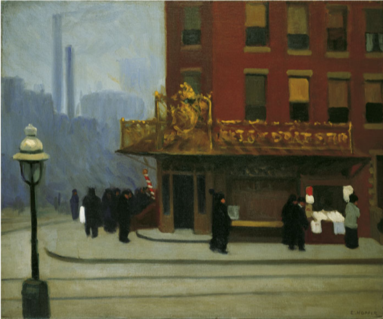 Edward Hopper,  New York Corner,  1913, oil on canvas, Private Collection  https://www.nga.gov/features/slideshows/edward-hopper.html