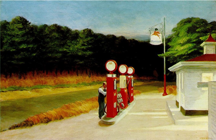 Edward Hopper,  Gas,  1940, oil on canvas, Museum of Modern Art, New York https://www.moma.org/collection/works/80000