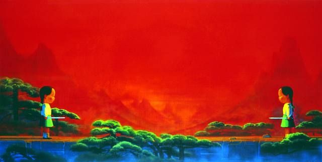 Liu Ye,  Sword,  2001-02, oil and acrylic on canvas, Sperone Westwater Gallery, New York.
