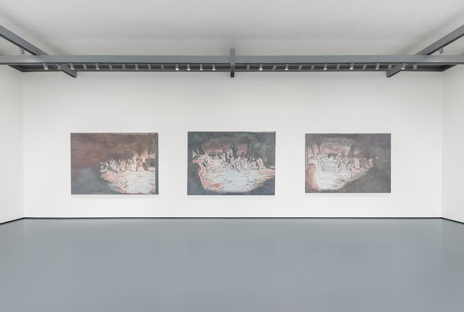 Delfino Sisto Legnani and Marco Cappelletti,  The Arena I, II, III, 2014, by Luc Tuymans.  2019.