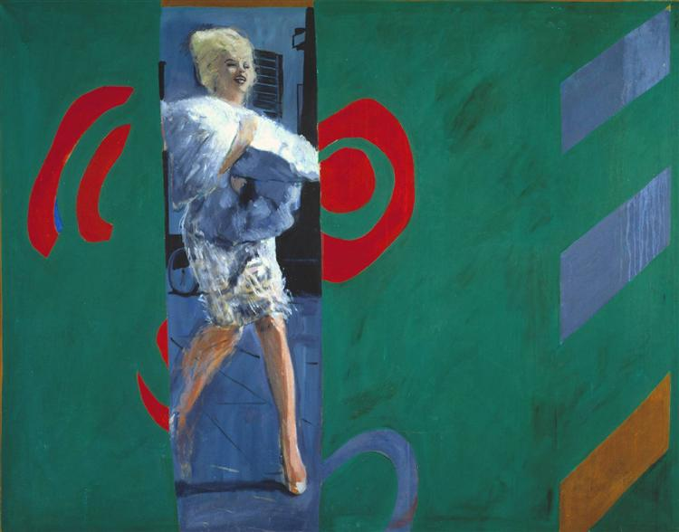 Pauline Boty,  The Only Blonde in the World,  1963, oil on canvas, Tate, St Ives.  https://www.tate.org.uk/art/artworks/boty-the-only-blonde-in-the-world-t07496