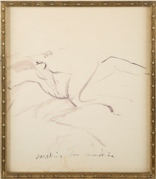 Marilyn Monroe,  Making Love Sometime,  c. 1960, watercolour on paper.  https://www.artsy.net/artwork/marilyn-monroe-making-love-sometime