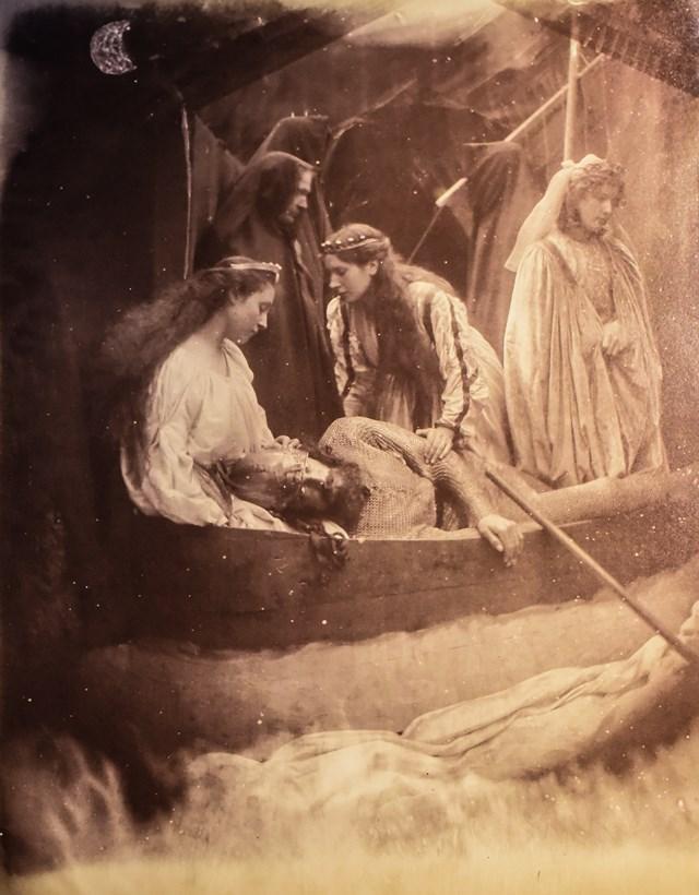 Julia Margaret Cameron,  The Passing of Arthur , 1875, albumen print, 34 x 27cm, V&A, London. http://collections.vam.ac.uk/item/O1098303/so-like-a-shatterd-column-photograph-cameron-julia-margaret/
