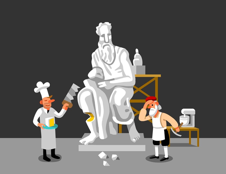 Marzipan Sculpting Mental Floss AD: Winslow Taft