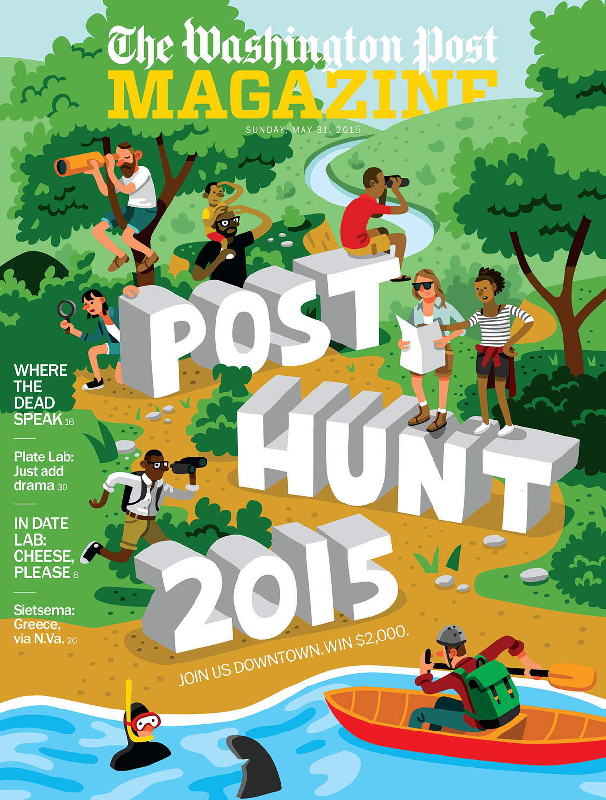 Post Hunt Cover Washington Post AD: Beth Broadwater