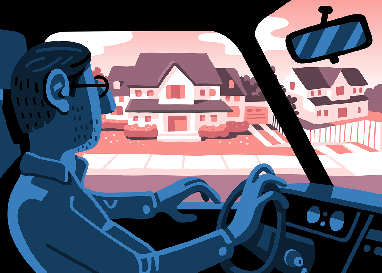 Driving By the Old House Boston Globe AD: Greg Klee