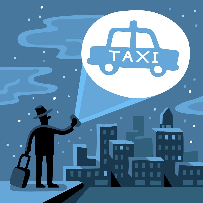 Taxi Apps Money Magazine AD: Patricia Alvarez