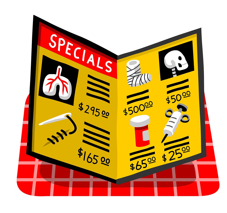 Transparent Medical Pricing Money Magazine AD: Patricia Alvarez