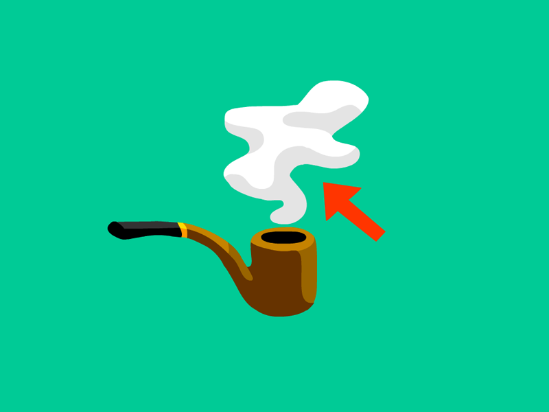 What do you call the smoke from a pipe? (A: Lunt) Mental Floss Magazine AD: Lucy Quintanilla
