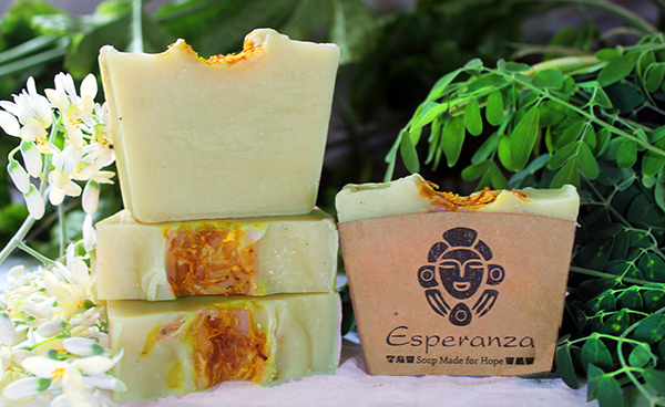 Super Moringa Soap -Our Moringa Soap is made with Moringa pulp from fresh picked leaves we add directly to our soap.Made with lemongrass and eucalyptus essential oils for a citrus feel. Made in the DR.
