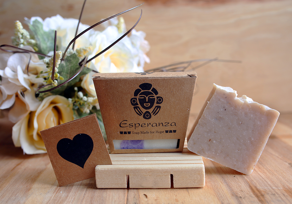 Mother's Day Option 1 -  2 bars of Soap, a Soap deck and a card.
