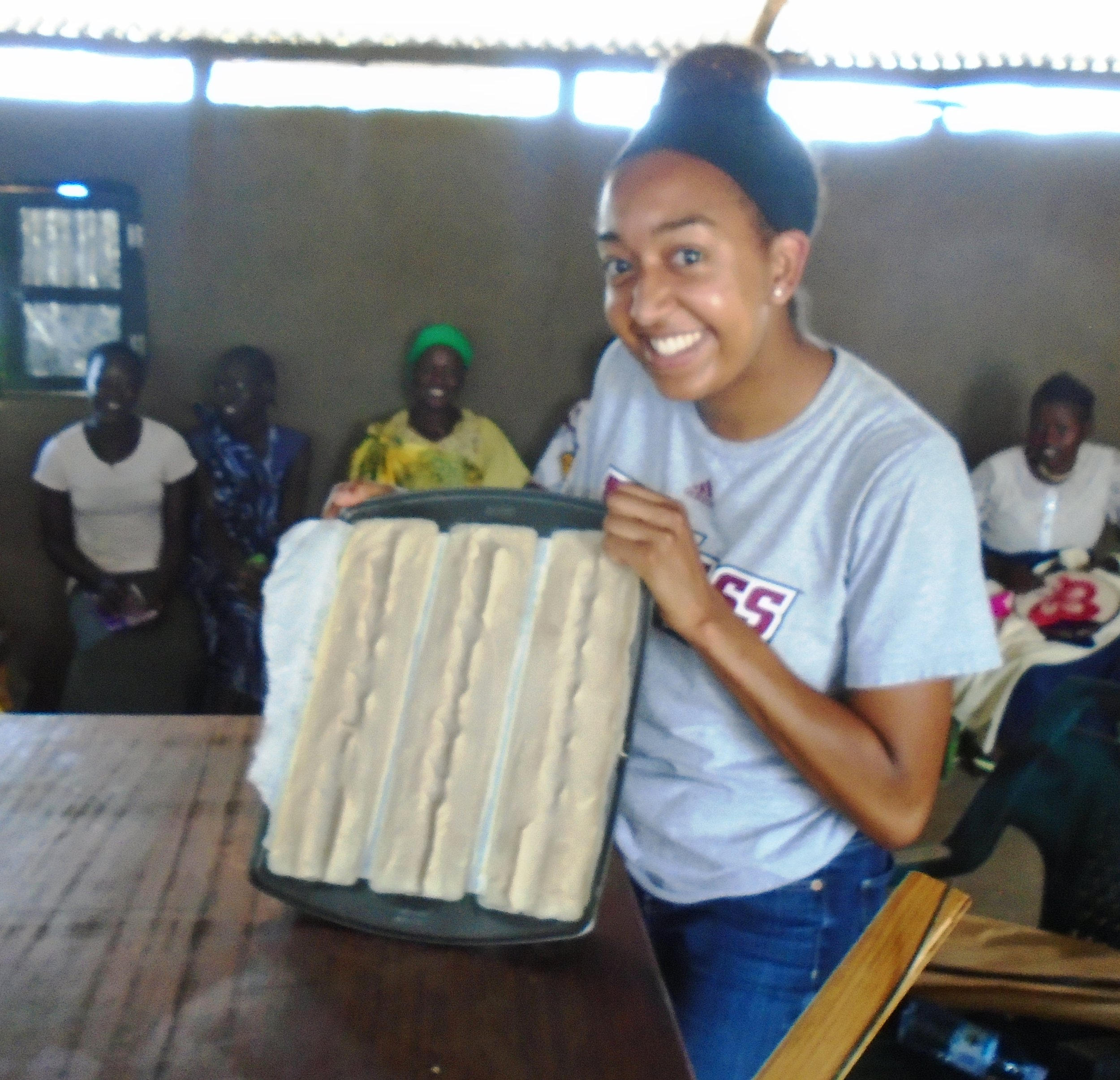 Krista training women of rural Uganda in soapmaking with Esperanza. Krista and Patrick Dibble, another volunteer of Esperanza, spent 3 weeks in September of 2017 in northern Uganda training women and prospecting opportunities for economic development with another organization called Favor Of God.