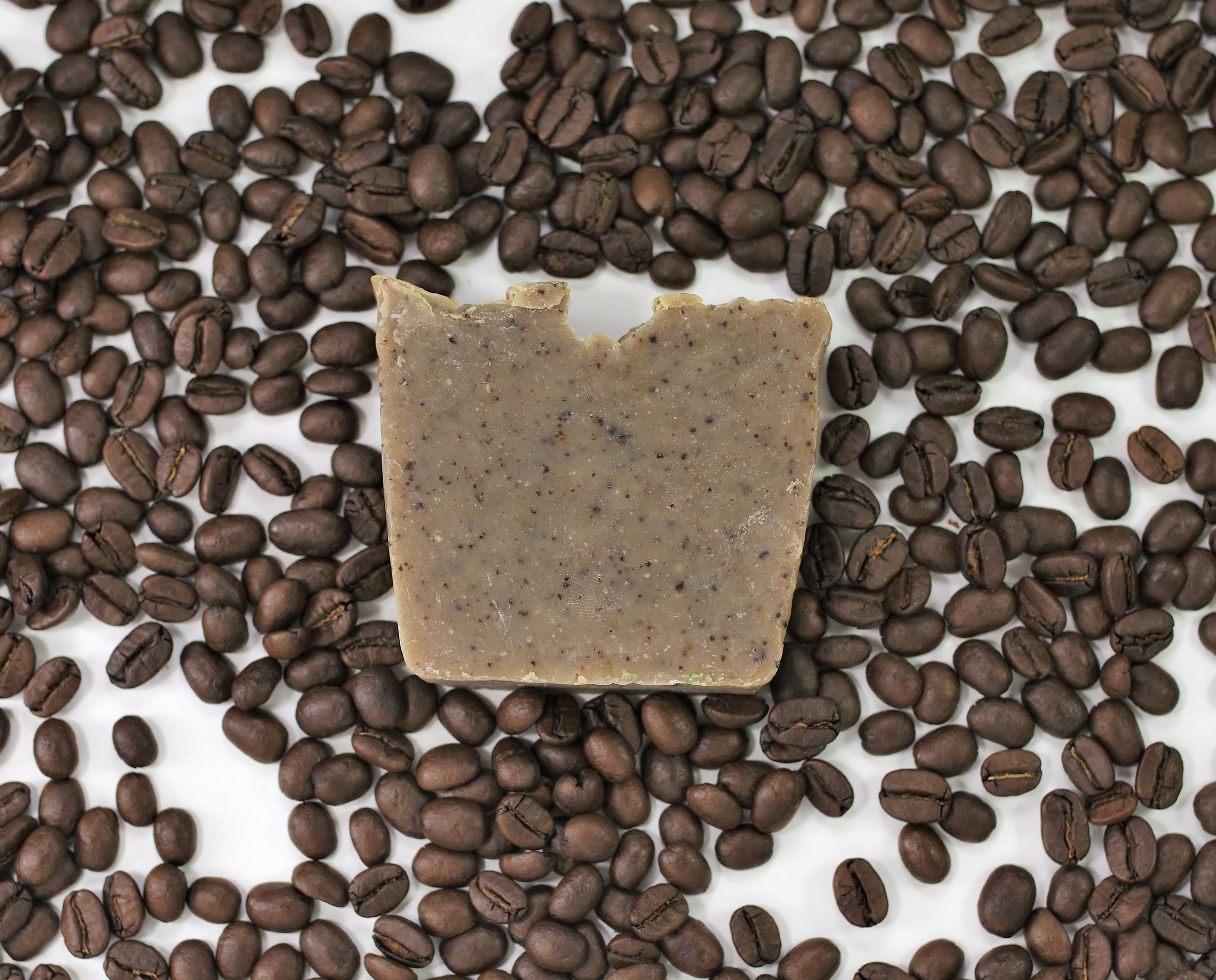 The best soap for your skin! - Made with espresso and ground coffee, a perfect scrub bar.