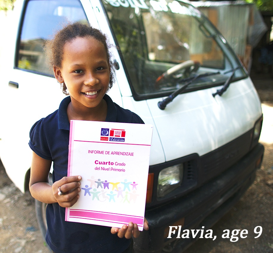 Flavia and her 4 siblings are being sponsored for a second year - they study hard and pass grades with flying colors.
