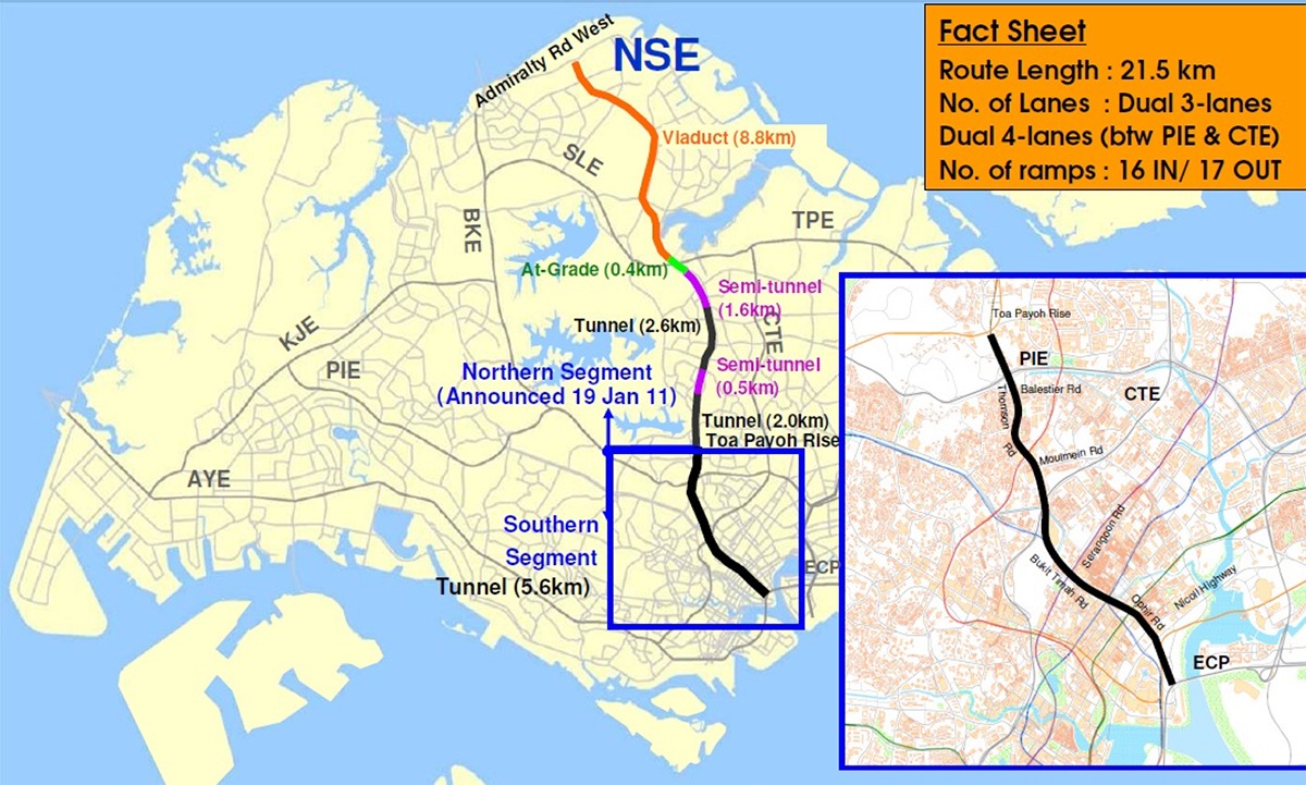 North-South Expressway Singapore