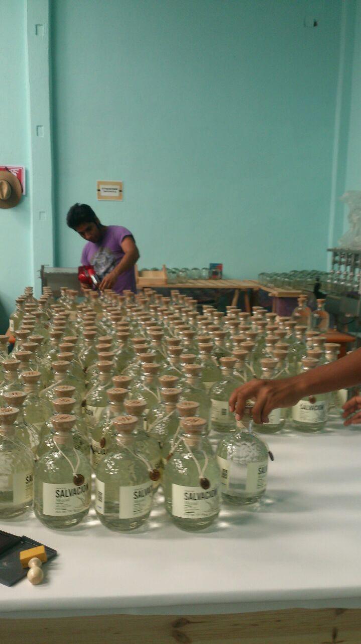 hand labeling the bottles.JPG