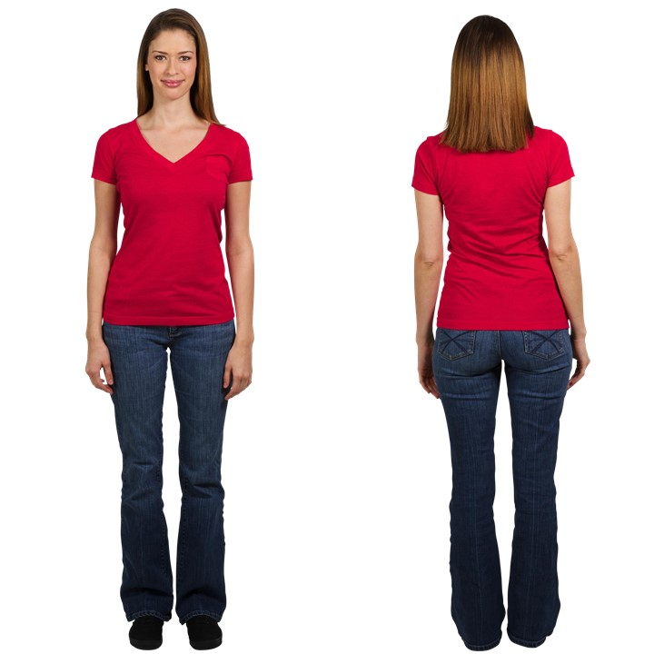 Hourglass Body Shape Front and Back View