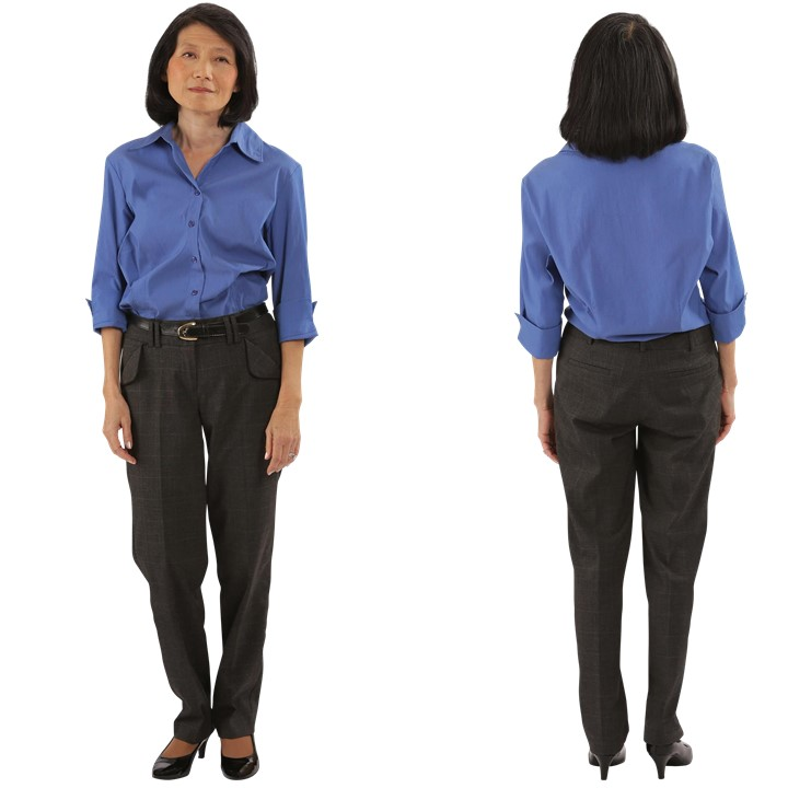 Inverted Triangle Body Shape Front and Back View