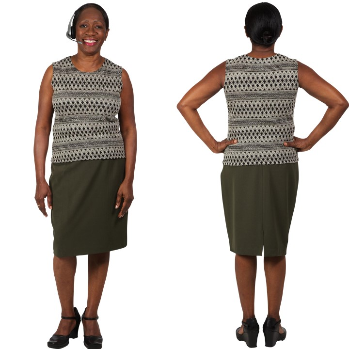 Rectangle Body Shape Front and Back View