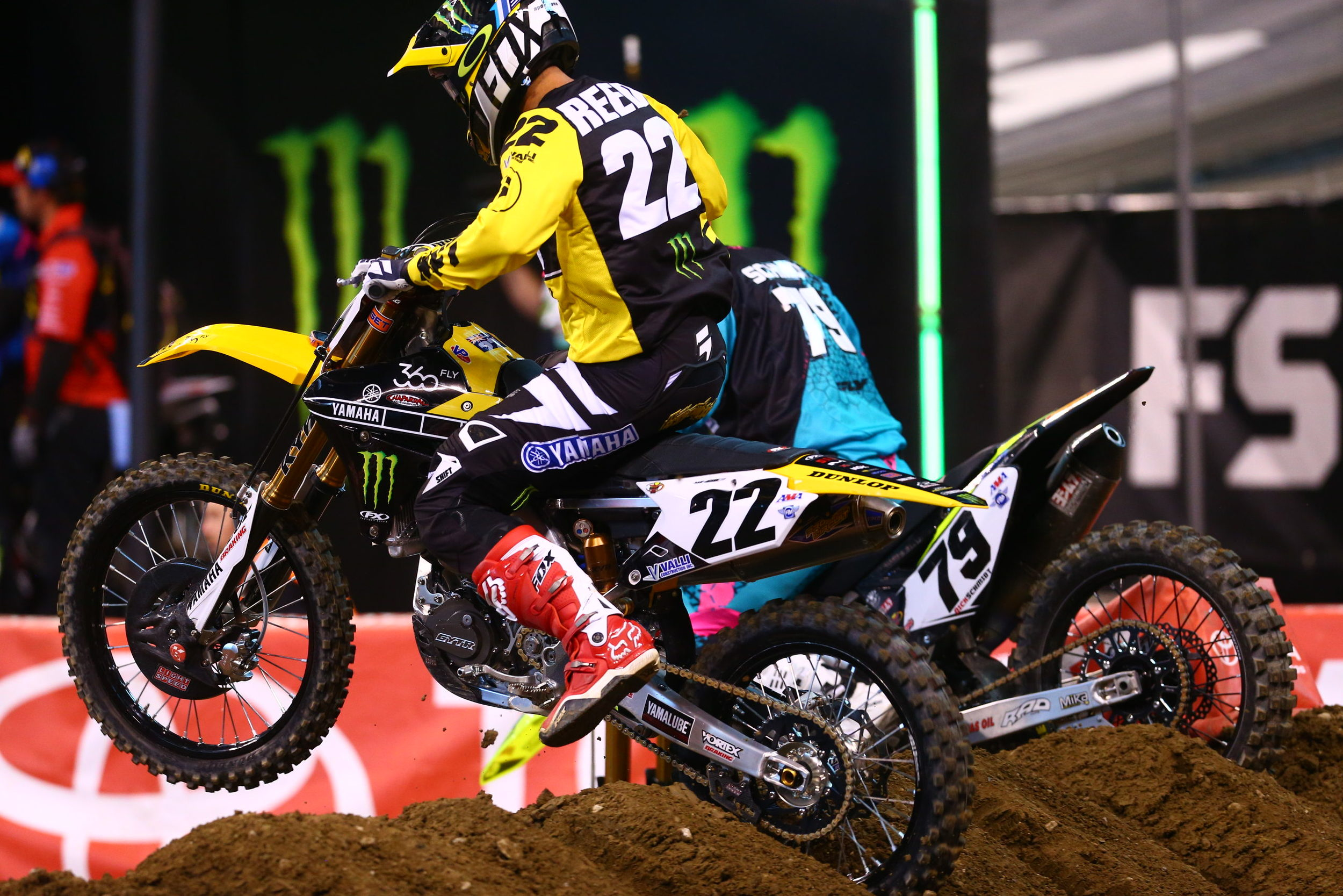 Chad Reed in retro Yamaha colors