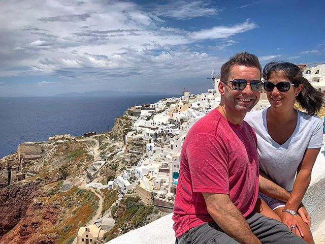 Mike and I got engaged in Greece 6 years ago, and were so happy we got to go back for my parents 40th anniversary.  Until next time 🇬🇷 💜 #santorini #greece #europe #forbusinessorpleasure