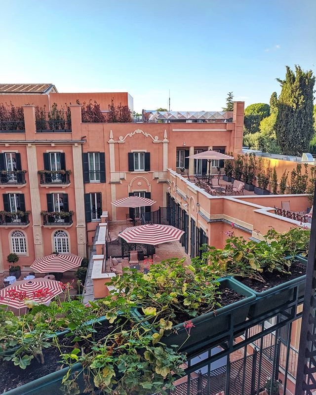 Thank you so much for the beautiful suite with the most incredible courtyard view @hoteldelavillerome 🇮🇹 This is the newest hotel at the top of the Spanish Steps. I recommend it! #forbusinessorpleasure #rome #roccofortehotels #italy