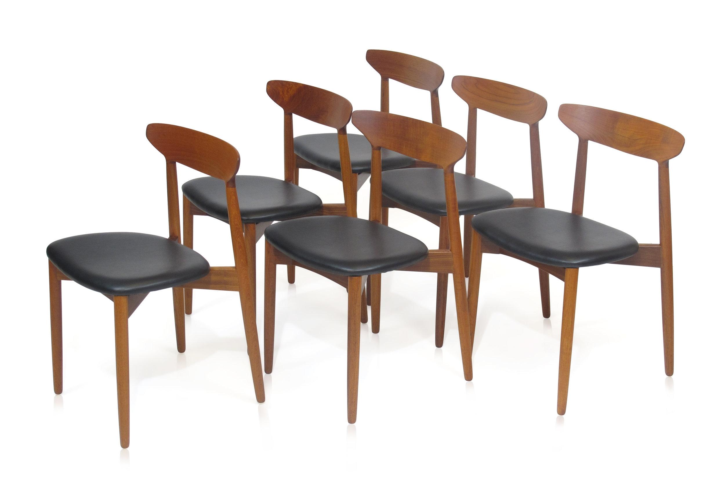 Harry Ostergaard Teak Dining Chairs