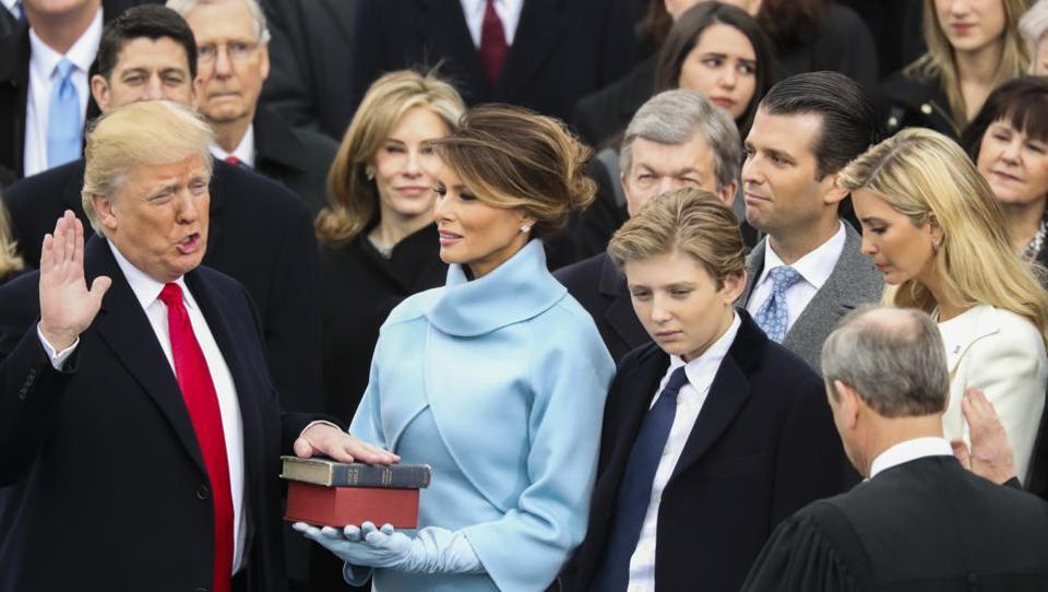 Congratulations to Donald J Trump as he becomes the 45th President of the USA! God bless America and President Trump and Vice President Mike Pence and families!