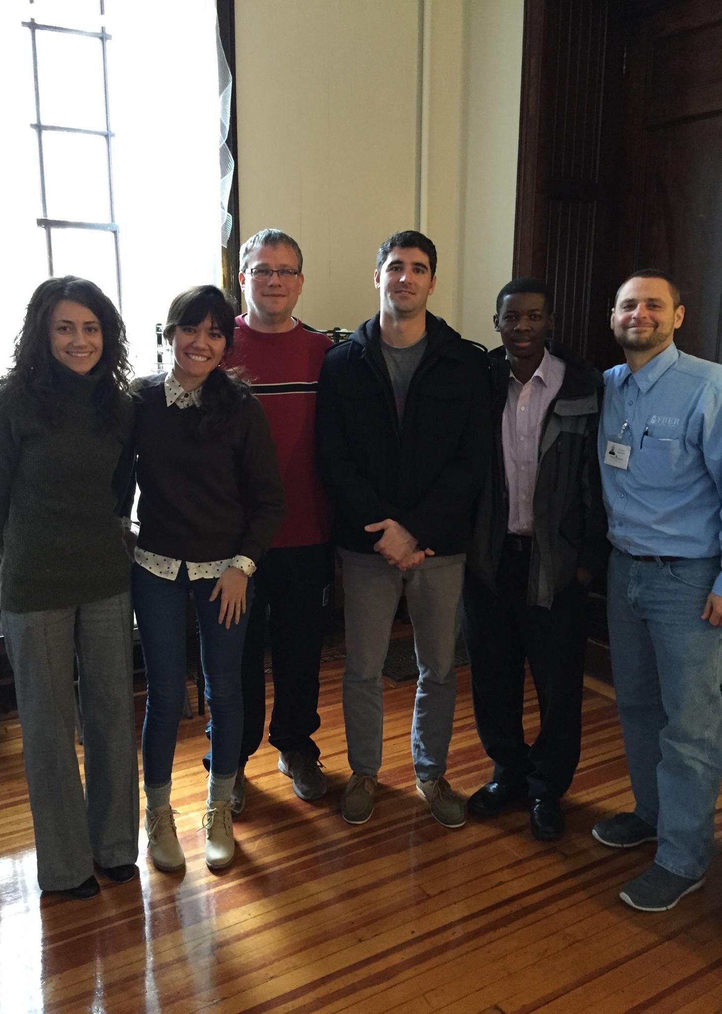The Compassion Boston Bible Workers (left to right): Alina Terzi, Olivia Ruiz-Knott, Craig Kavanaugh, Richard Cabral, Theophilus Osei, and Ricardo Sanchez.